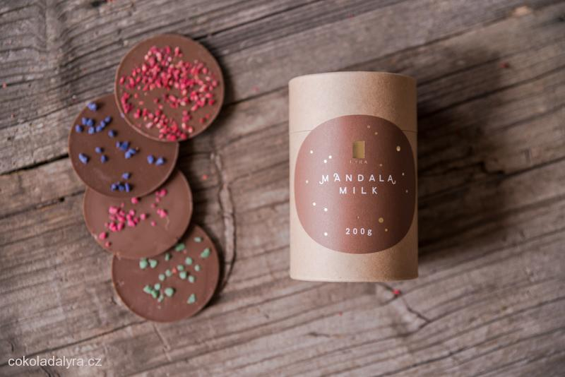 MANDALA MILK - mléčná čokoláda s posypem