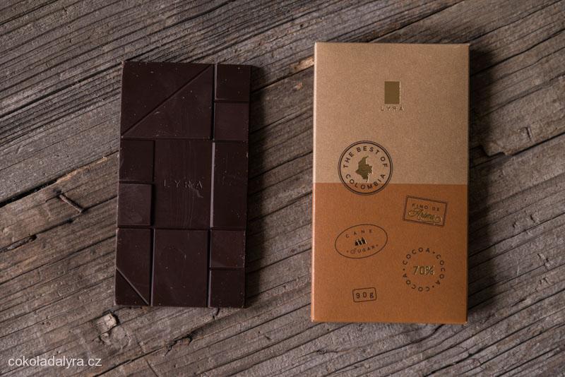 Odrůdová hořká čokoláda Colombia 70%