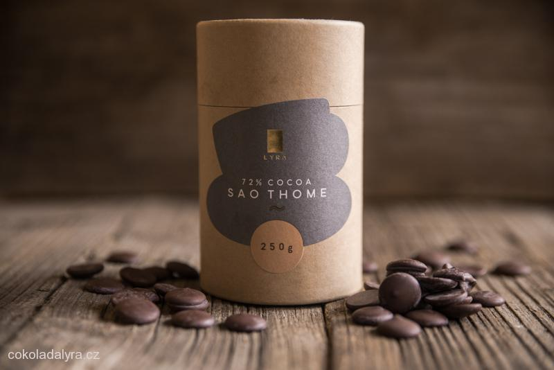 Hořká čokoláda SAO THOME na přípravu (nejen) horké čokolády