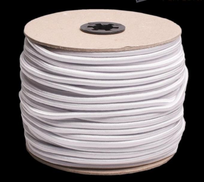 Gumičky pro výrobu roušek - bílá / černá