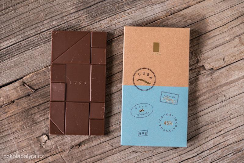 Odrůdová mléčná čokoláda Cuba 45%