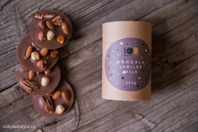 MANDALA JUBILEE MILK - mléčná čokoláda s celými plody