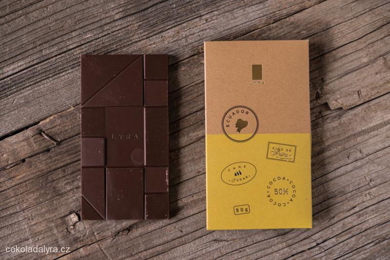 Odrůdová mléčná čokoláda Ecuador 50%
