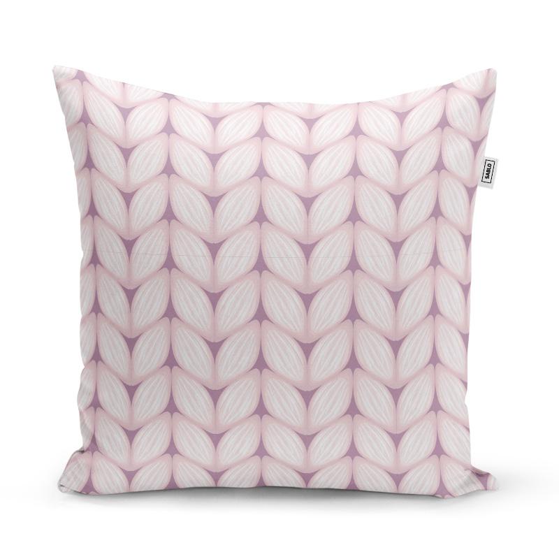Bledě růžové pletení