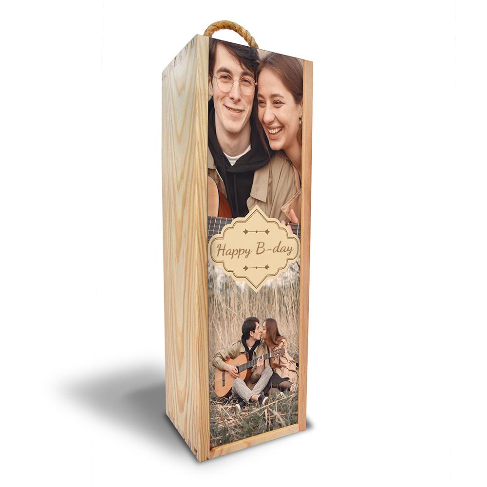Dárková krabička na jednu láhev