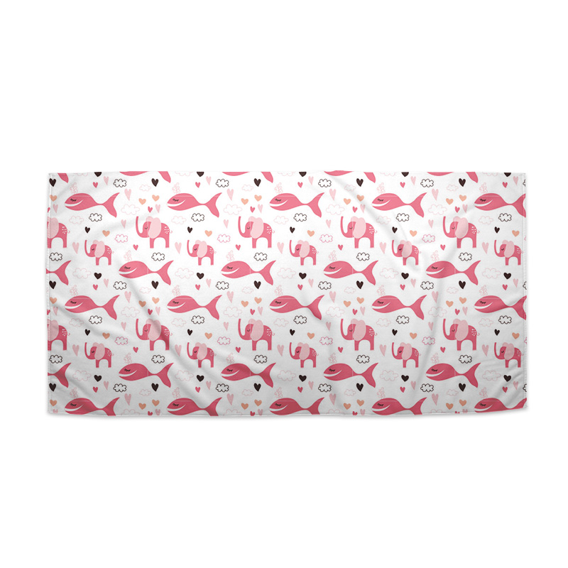 Růžové rybky a sloni
