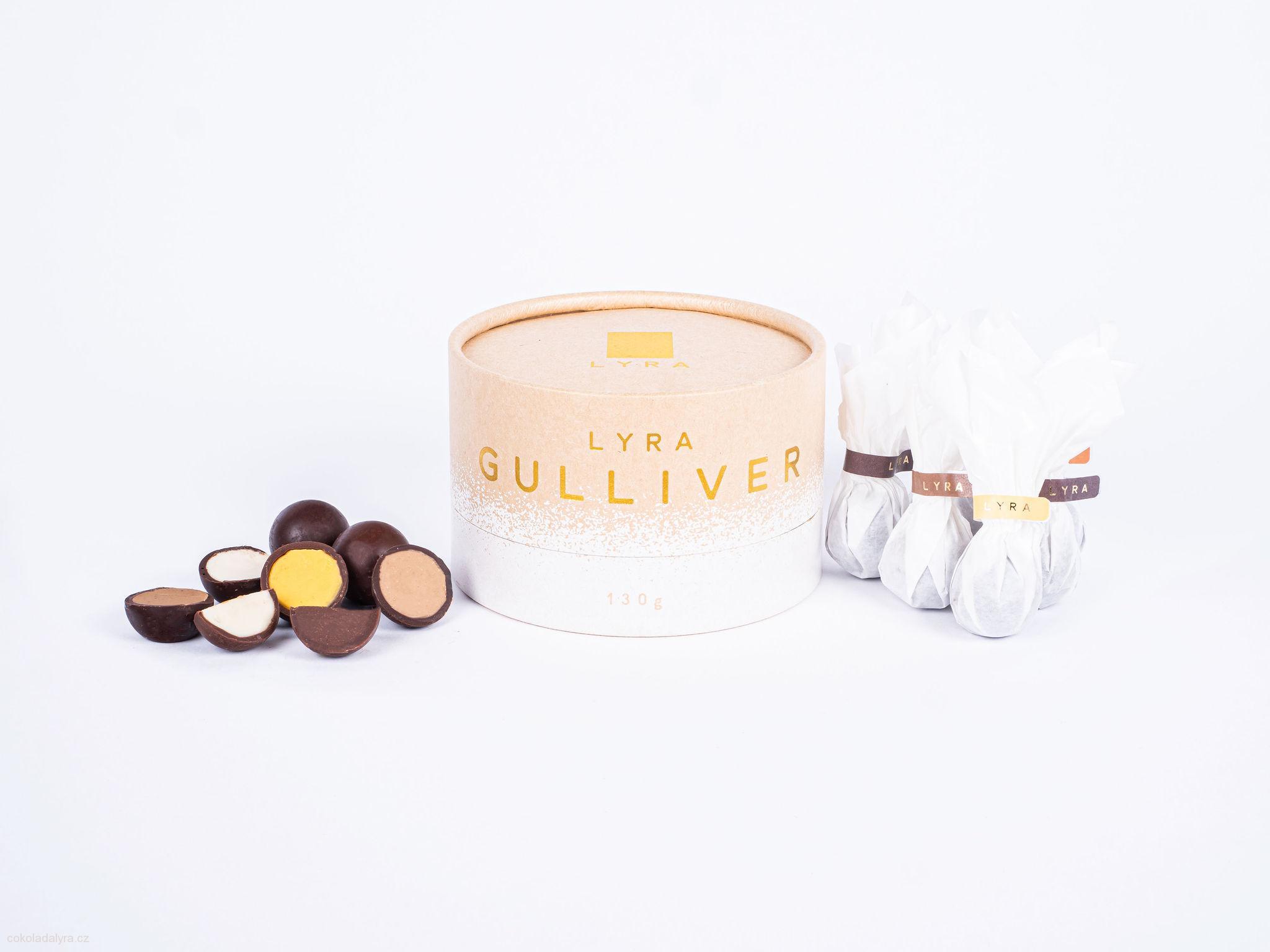 Čokoládové pralinky s šesti různými náplněmi