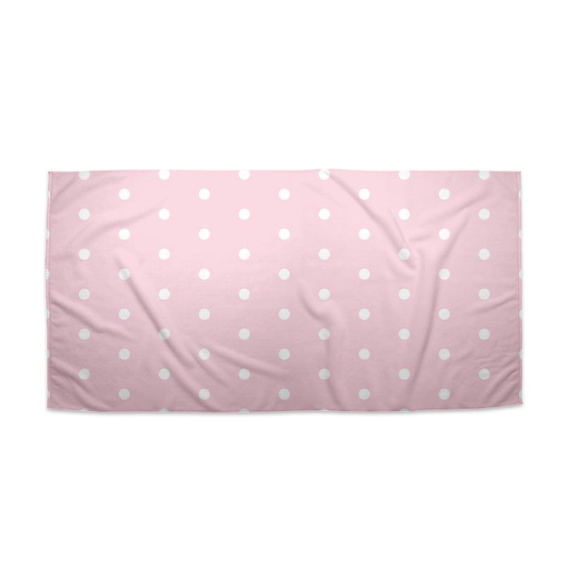 Bílé puntíky na růžové