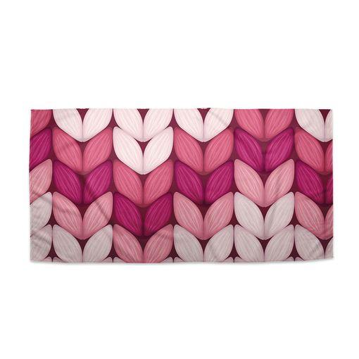 Tříbarevné růžové pletení