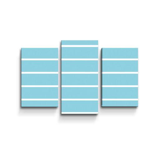 Bílé pruhy na modré