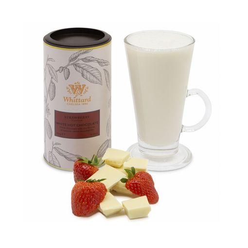 Bílá horká čokoláda s příchutí jahod