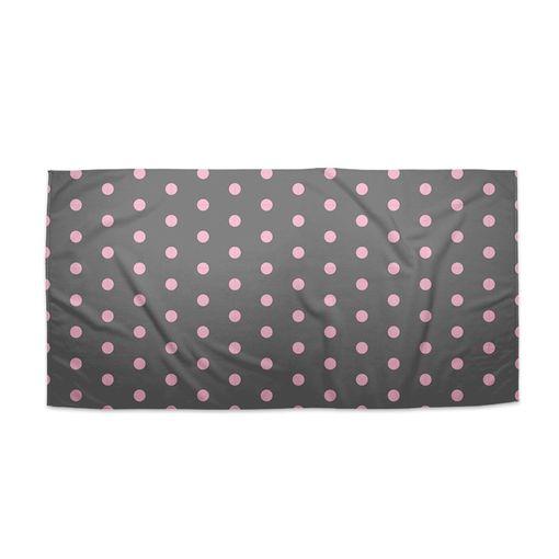 Růžové puntíky na šedé