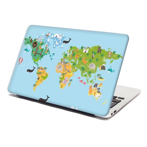 Zvířecí mapa světa