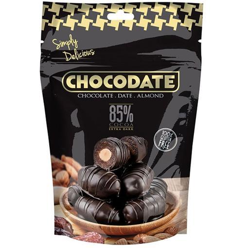 Chocodate Extra Dark Datle s mandlí v extra hořké čokoládě