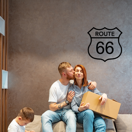 nápis Route 66