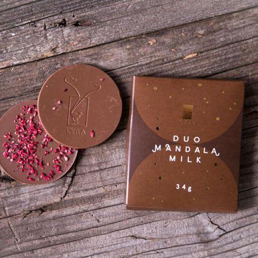 DUO Mandala Milk - mléčná čokoláda s posypem
