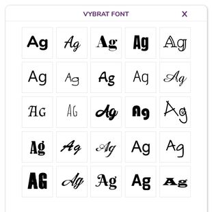 Vyberte styl písma - font