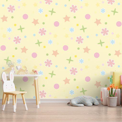 Hvězdy, květy a puntíky