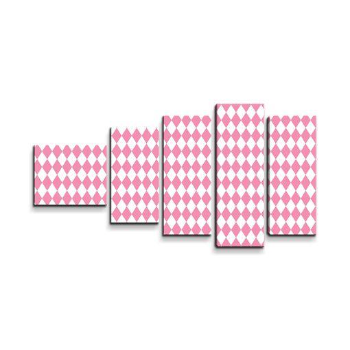 Růžovobílé kosočtverce