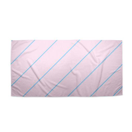 Modré pruhy na růžové