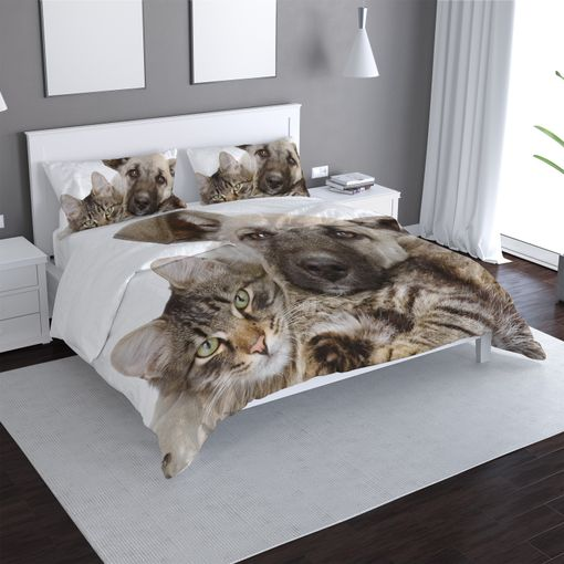 Kočička a štěňátko