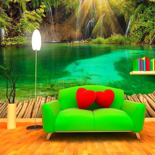 Jezírko s vodopádem