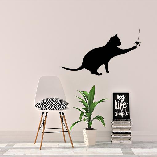 Kočka s pavoukem