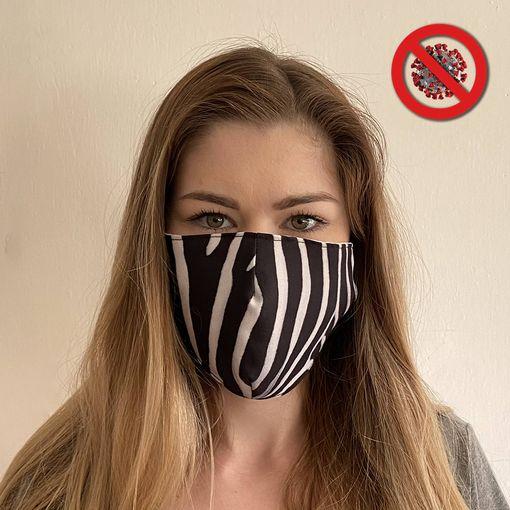 Rouška zebra - DVOUVRSTVÁ