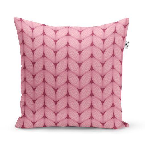 Růžové pletení z vlny