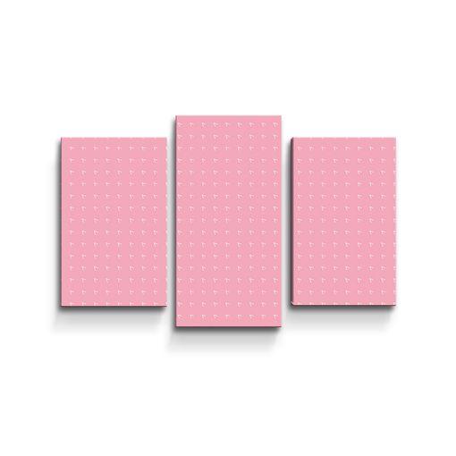 Bílé čárky na růžové
