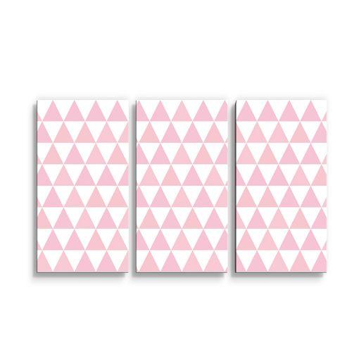 Růžové a bílé trojúhelníky