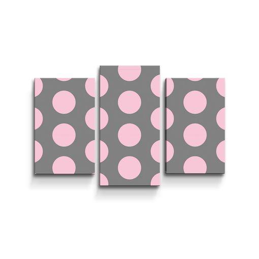 Velké růžové puntíky