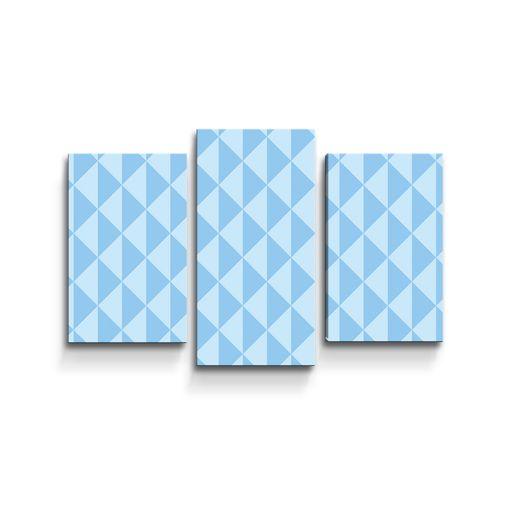Modré obrácené pyramidy