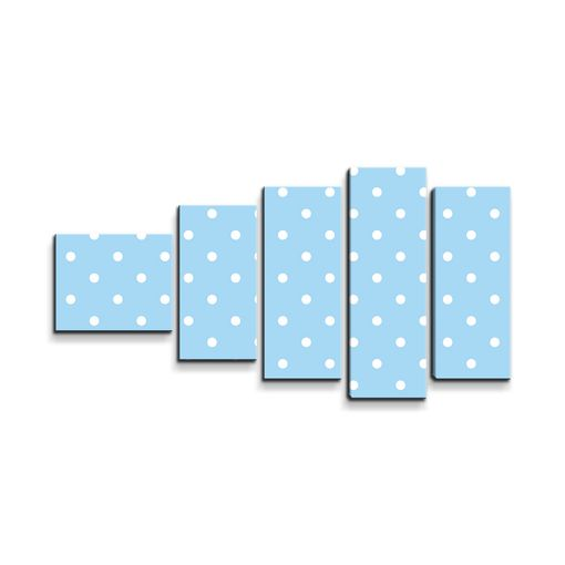 Bílé tečky na modré