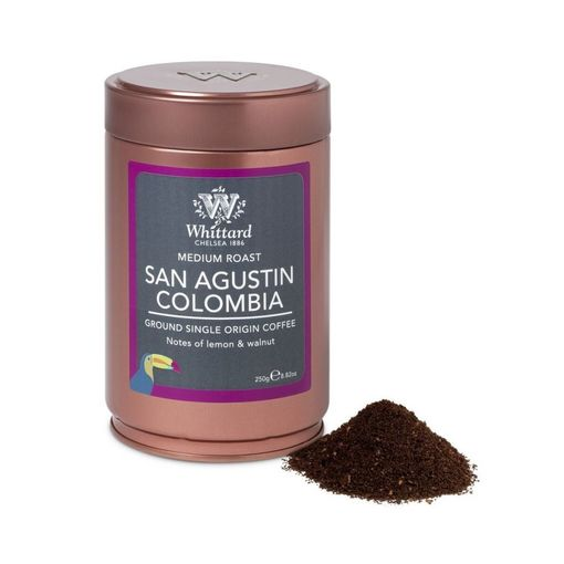 Mletá káva v plechovce San Agustin Colombia